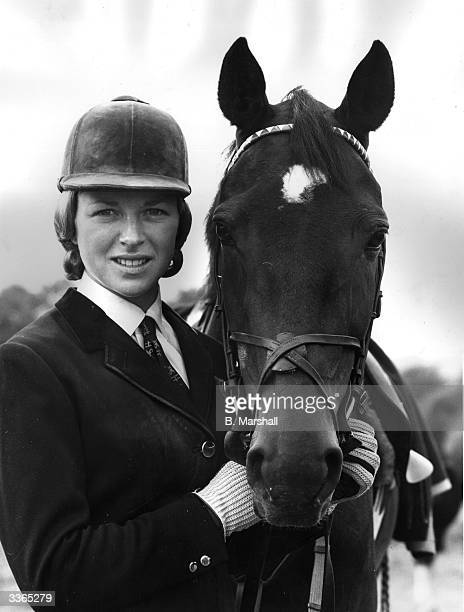 Showjumper Marion Coakes with her pony Stroller