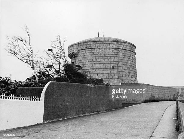 The Martello Tower at Sandycove in Dun Laoghaire which is the location of the first scene in James Joyce's 'Ulysees' The tower was bought by Irish...