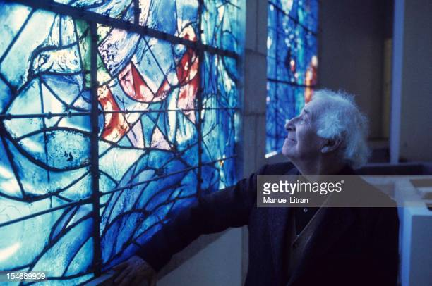 July 1973 the painter Marc Chagall was the occasion of the inauguration of the Musee National Message Bible which is devoted to Nice He looks at the...