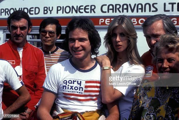 July 1977 Motorcycling Barry Sheene and girlfriend Stephanie McLean