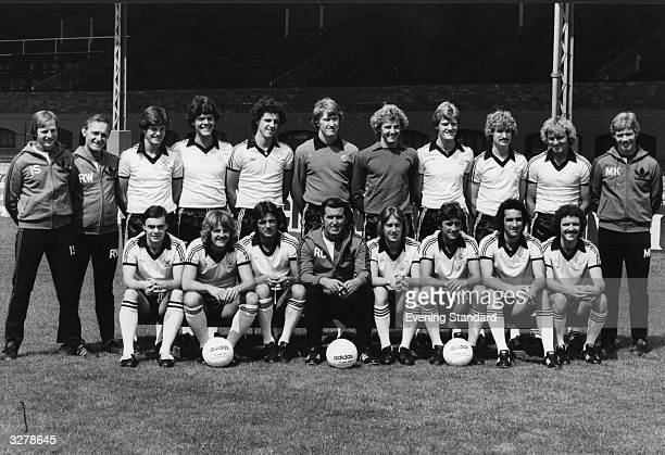 A line up of Fulham Football Club from left to right Back I Galth R Woodward T Mahoney S Hatter T Gale G Reyton P Digweed G Banton K Lock J Margesson...