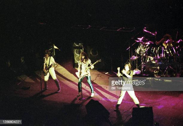 July 1981 ]: MANDATORY CREDIT Bill Tompkins/Getty Images Def Leppard performs July 1981 in Philadelphia.