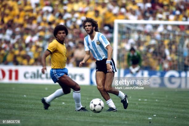 FIFA World Cup Argentina v Brazil Alberto Tarantini of Argentina