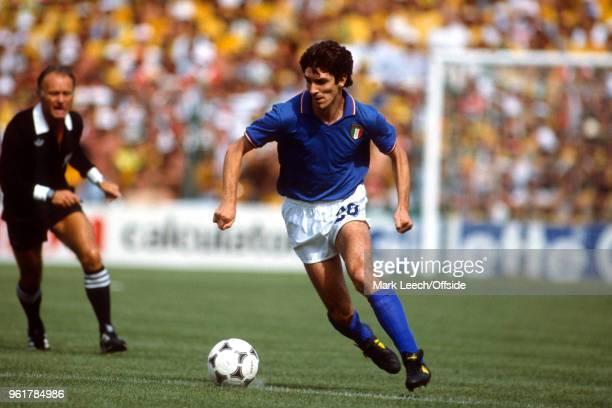 July 1982 Barcelona - FIFA World Cup - Brazil v Italy - Paolo Rossi of Italy