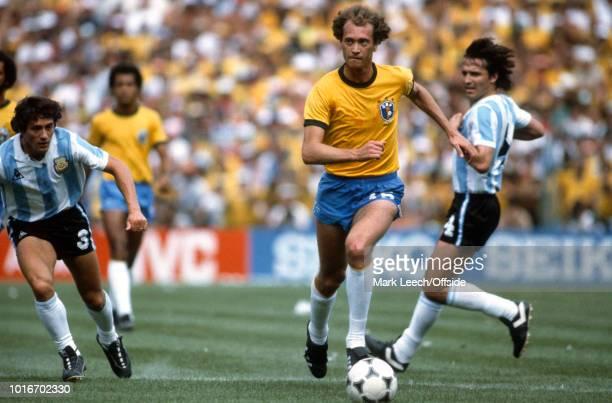 July 1982 - FIFA World Cup - Argentina v Brazil - Falcao of Brazil -