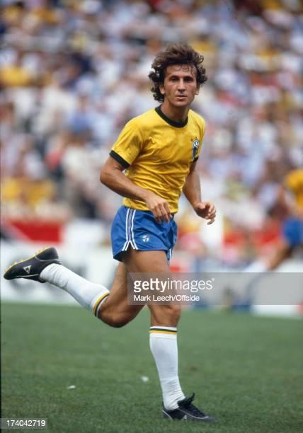 02 July 1982 Fifa World Cup Argentina v Brazil Zico of Brazil