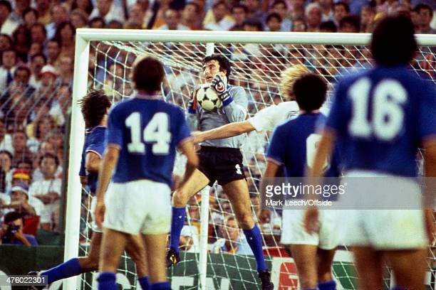 11 July 1982 Fifa World Cup Final Italy v West Germany Italy Goalkeeper and Captain Dino Zoff catches the ball
