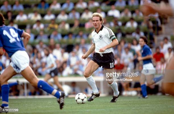 11 July 1982 Fifa World Cup Final Italy v West Germany West Germany captain KarlHeinz Rummenigge in action during the World Cup Final