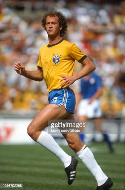 July 1982 - FIFA World Cup - Italy v Brazil - Falcao of Brazil -