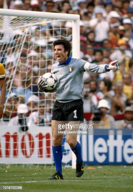05 July 1982 FIFA World Cup Italy v Brazil Italian goalkeeper Dino Zoff