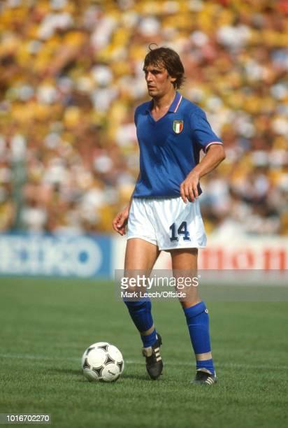 July 1982 - FIFA World Cup - Italy v Brazil - Marco Tardelli of Italy -
