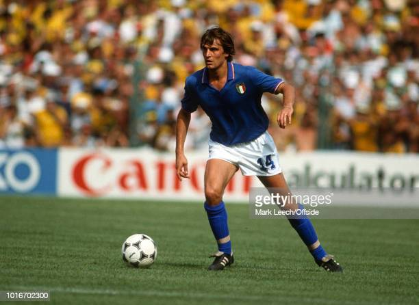 05 July 1982 FIFA World Cup Italy v Brazil Marco Tardelli of Italy
