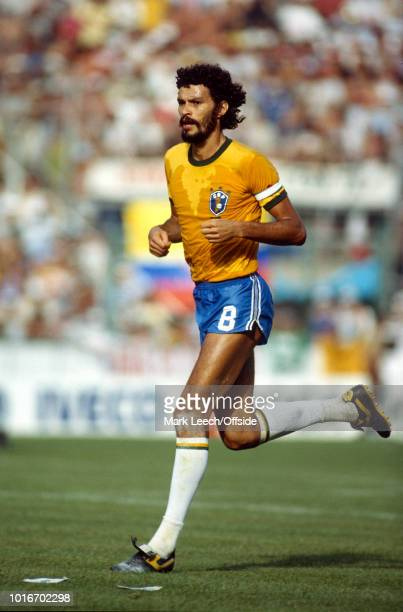05 July 1982 FIFA World Cup Italy v Brazil Socrates of Brazil