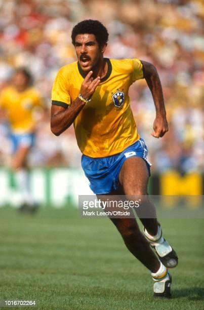 July 1982 - FIFA World Cup - Italy v Brazil - Toninho Cerezo of Brazil -