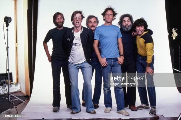 July 1982, San Rafael, California, USA --- Members of the Grateful Dead are Phil Lesh , Bob Weir , Mickey Hart , Jerry Garcia , Bill Kruetzmann and...