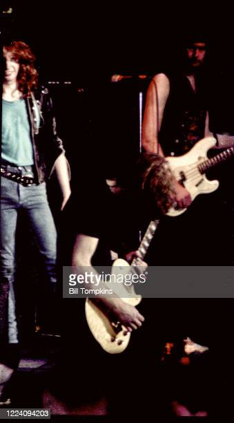 July 1983]: MANDATORY CREDIT Bill Tompkins/Getty Images on Fastway performs at Madison Square Garden. July 1983 in New York City.