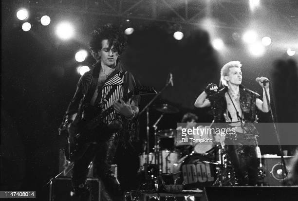 July 1983]: Steve Stevens and Billy Idol perform July 1983 in New York City.