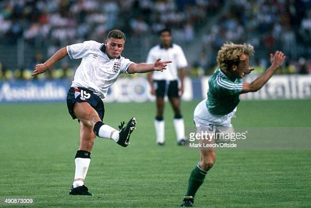 04 July 1990 Football World Cup 1990 England v West Germany Paul Gascoigne of England in action