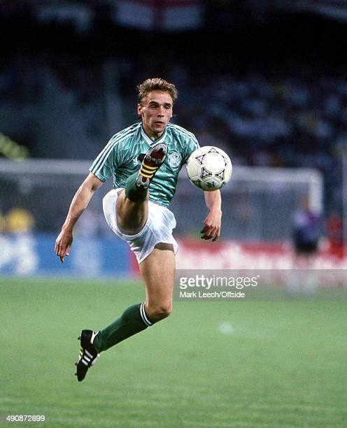 04 July 1990 Football World Cup 1990 England v West Germany Thomas Hassler of West Germany in action