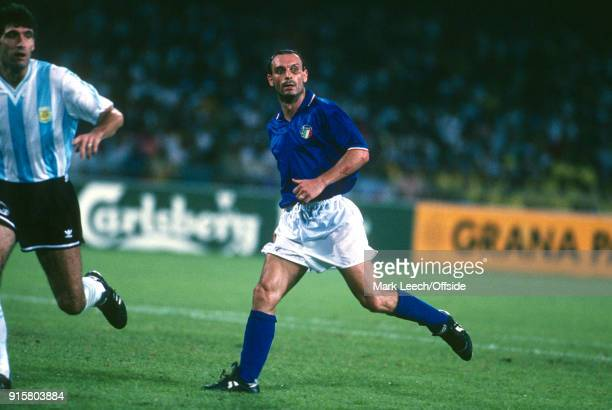 03 July 1990 Naples FIFA World Cup semi final Italy v Argentina Salvatore Schillaci of Italy