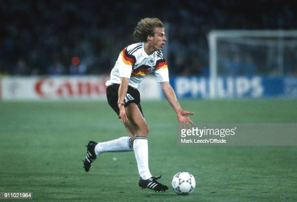 FIFA World Cup Final Argentina v West Germany Jurgen Klinsmann of Germany