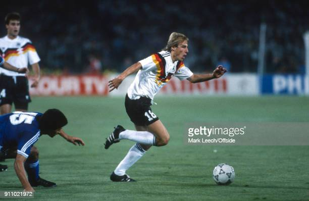 World Cup Final ; Argentina v West Germany - Jurgen Klinsmann of Germany .
