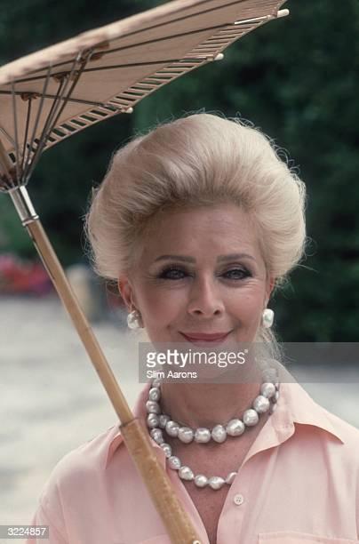 Lily Safra wife of Lebanese born banker Edmond Safra at home in La Leopolda VillefranchesurMer on the Riviera