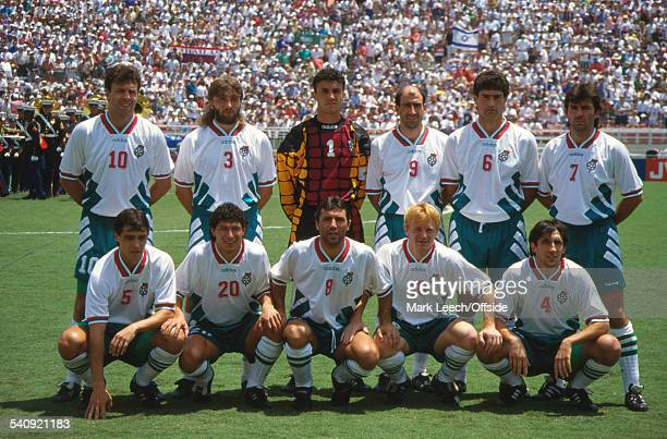 16 July 1994 FIFA World Cup Sweden v Bulgaria The Bulgaria team photo