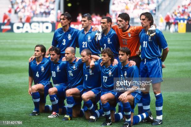 3 July 1998 FIFA World Cup Quarter Final Stade de France Italy v France The Italy team line up before the match