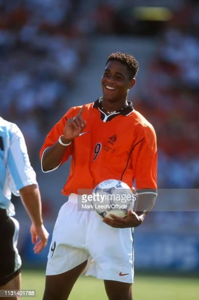 July 1998 - FIFA World Cup - Quarter Final - Stade Veldorome - Netherlands v Argentina - Patrick Kluivert of the Netherlands. -