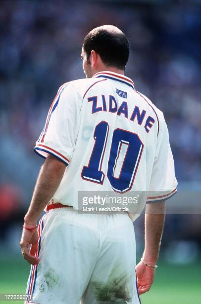 3 July 1998 France v Italy World Cup '98 Quarter Final View of Zinedine Zidane and his bald spot from behind