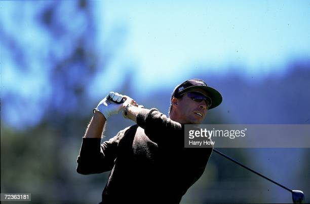Ivan Lendl watches the ball after hitting it during the Celebrity Golf Campionships at the Edgewood Tahoe Golf Course in Stateline Nevada Mandatory...