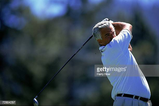 John O''Hurley watches the ball after hitting it during the Celebrity Golf Campionships at the Edgewood Tahoe Golf Course in Stateline Nevada...