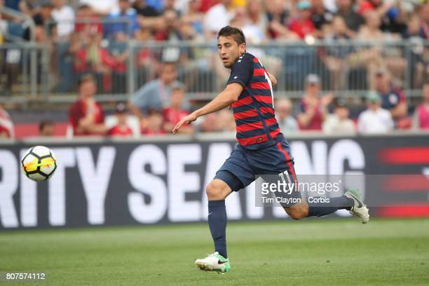 Alejandro Bedoya of the United States in action during the United States Vs Ghana International Soccer Friendly Match at Pratt Whitney Stadium on...