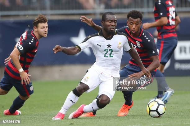 Frank Acheampong of Ghana is challenged by Kellyn Acosta of the United States during the United States Vs Ghana International Soccer Friendly Match...