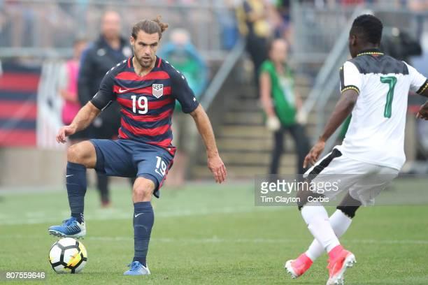 Graham Zusi of the United States in action during the United States Vs Ghana International Soccer Friendly Match at Pratt Whitney Stadium on July 1st...