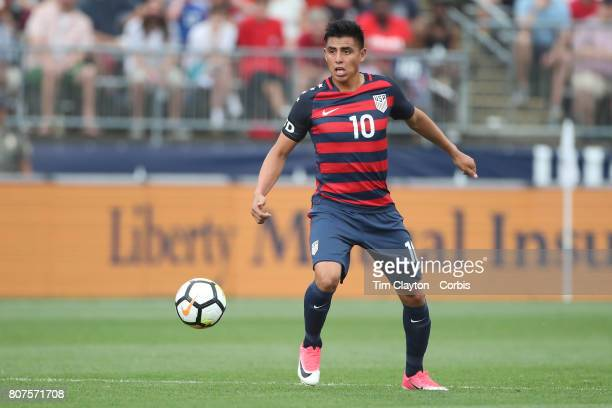 Joe Corona of the United States in action during the United States Vs Ghana International Soccer Friendly Match at Pratt Whitney Stadium on July 1st...
