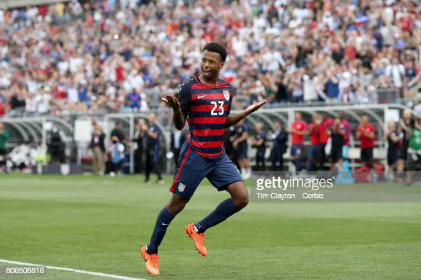 Kellyn Acosta of the United States celebrates after scoring his sides second goal during the United States Vs Ghana International Soccer Friendly...