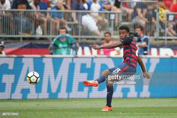 Kellyn Acosta of the United States in action during the United States Vs Ghana International Soccer Friendly Match at Pratt Whitney Stadium on July...