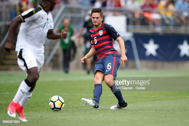 Kelyn Rowe of the United States in action during the United States Vs Ghana International Soccer Friendly Match at Pratt Whitney Stadium on July 1st...