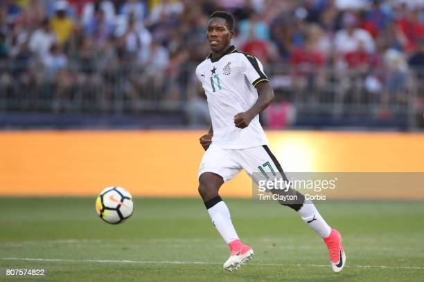 Lumor Agbenyenu of Ghana in action during the United States Vs Ghana International Soccer Friendly Match at Pratt Whitney Stadium on July 1st 2017 in...