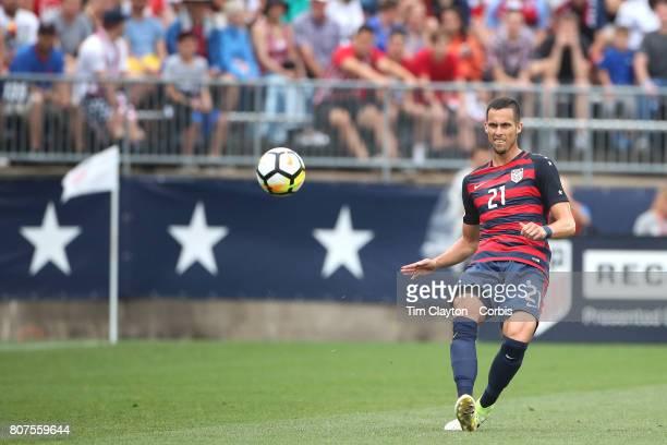 Matt Hedges of the United States in action during the United States Vs Ghana International Soccer Friendly Match at Pratt Whitney Stadium on July 1st...