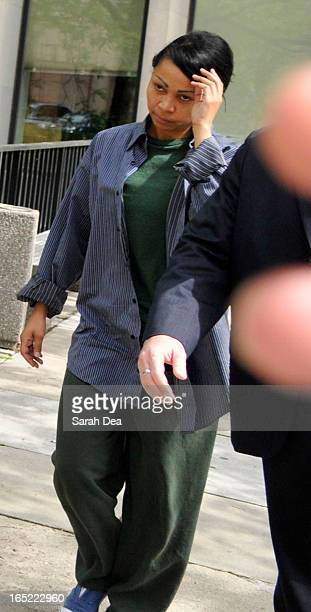 July 2 2009 Pictured is Aretha Wilson a woman accused of attacking actor Leonardo DiCaprio at a Hollywood party in 2005 leaving from court on...