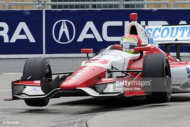 IndyCar Driver Justin Wilson of England in action during the Honda Indy Toronto Race 1 at Exhibition Place Toronto ON