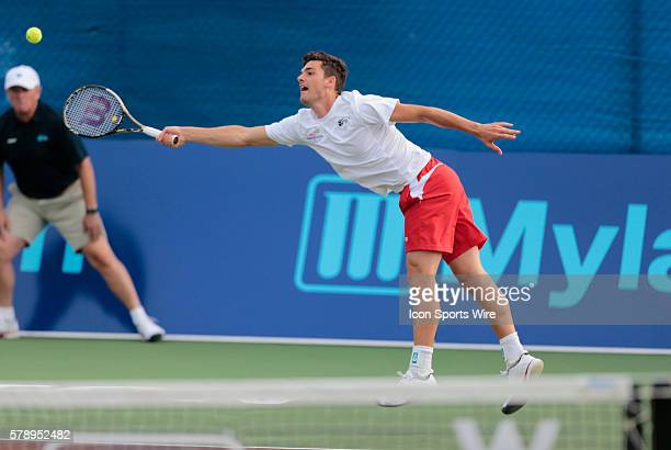 Philadelphia Freedoms Frank Dancevic The Boston Lobsters met the Philadelphia Freedoms in a World Team Tennis match at Boston Lobsters Tennis Center...
