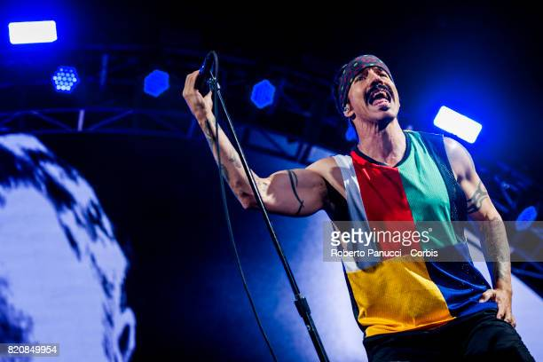 Anthony Kiedis of Red Hot Chili Peppers perform in concert on July 20 2017 in Rome Italy