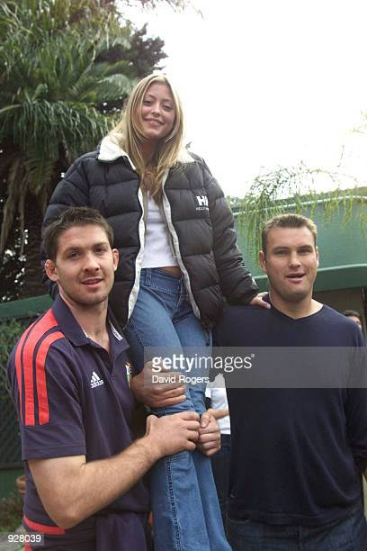 Scott Murray and Jeremy Davidson of the British Lions meet Holly Valance who stars as Flick Scully in the Australian TV Soap Neighbours while on the...