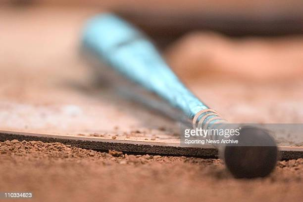 Bats sit on the on deck circle during the World team against the USA team at the Major League Baseball Futures Game at Minute Maid Park on July 11,...