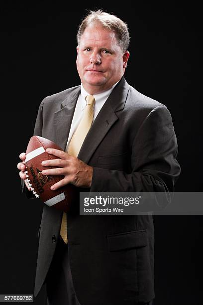 Chip Kelly head coach for Oregon poses for a portrait during the Pac-10 Football Media Day held at the Sheraton Gateway LAX Hotel in Los Angeles, CA.