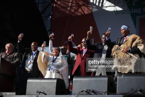 Deputy president Kgalema Motlanthe Chief Mandla Mandela Mathole Motshekga Denis Goldberg Paul Mashatile and arts and culture minister Lulu Xingwana...